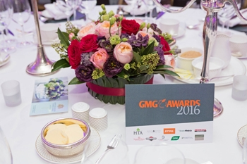 The GMG Awards Lunch 2016 Table Setting